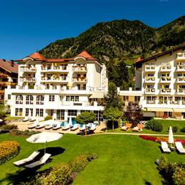 Hotel in the Gastein Valley from the outside in winter