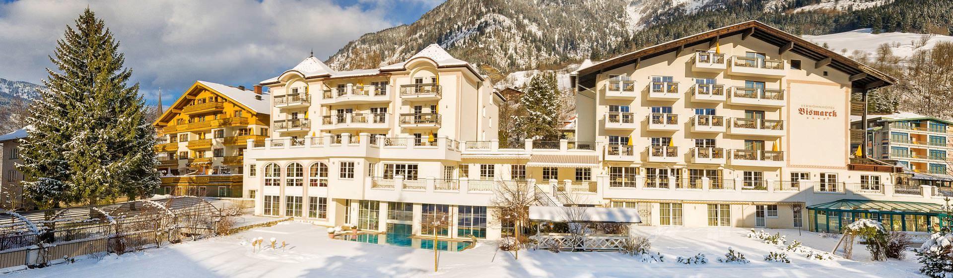 Hotel Bismarck Außenansicht Winter