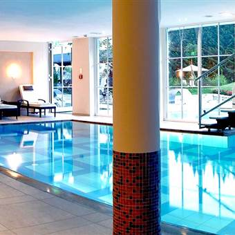 Hotel with indoor pool and relax area