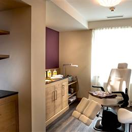 Beauty area with chair in a hotel
